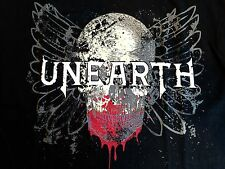 Rare UNEARTH American Metalcore Grindcore Angel Bloody Skull T-Shirt (Youth L)