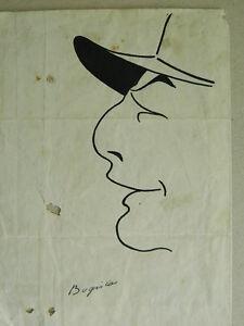 Dibujo-Pluma-Caricatura-Original-Firmada-Bogislas-Ilustrador-Principios-1900