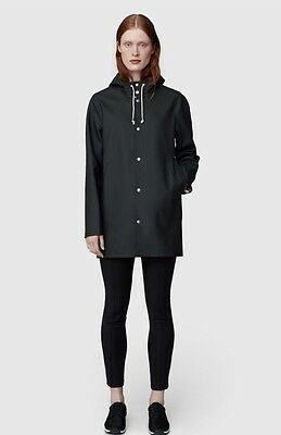 Stutterheim Unisex Black Stockholm Style Raincoat SMALL