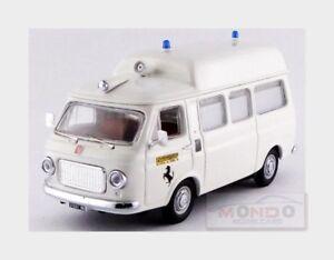 Fiat 238 Ambulance Haute Ferrari Roof Fiorano 1972 Blanc Rio 1:43 Rio 4555