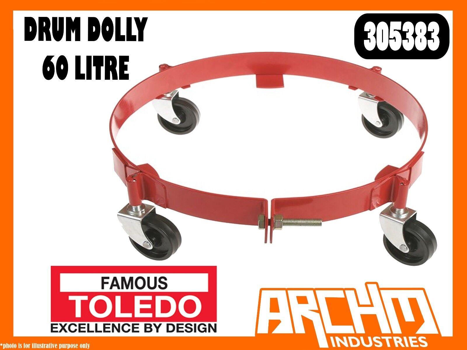 TOLEDO 305383 - DRUM DOLLY - 60 LITRE - EXTRA HEAVY DUTY STEEL POWDER COATED