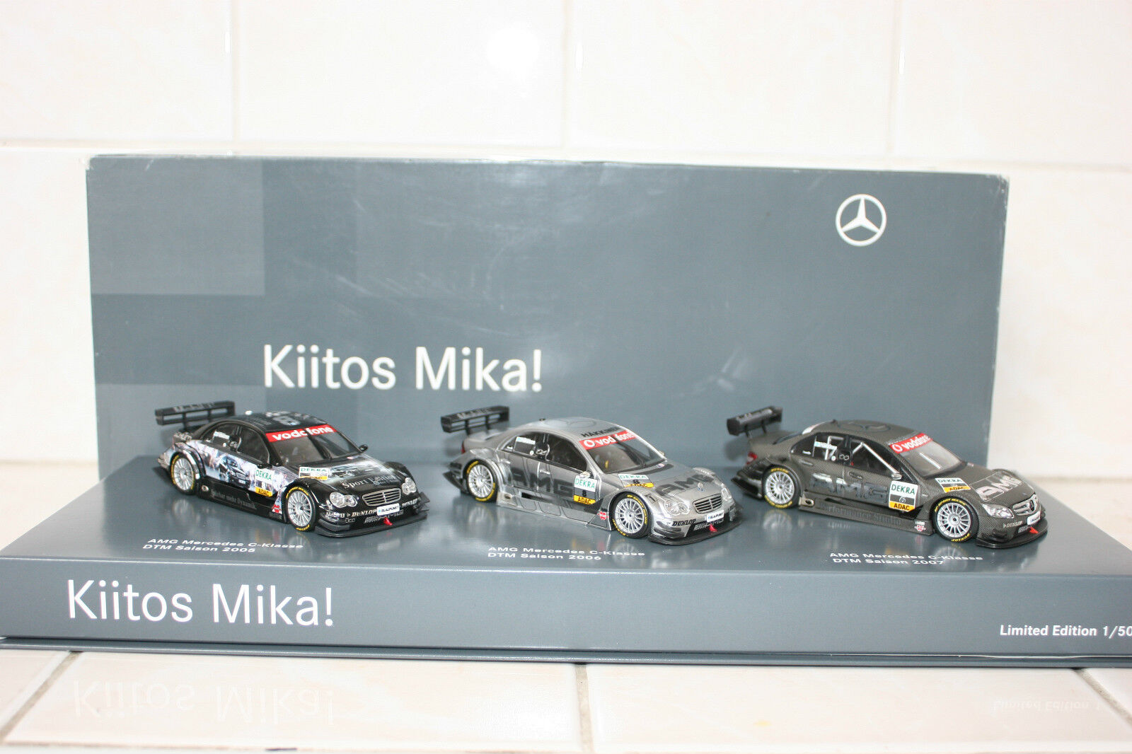 1 43 Minichamps Mercedes Benz Benz Benz C Class DTM W203 w204 Kiitos Mika Set 1 of 50 241b60