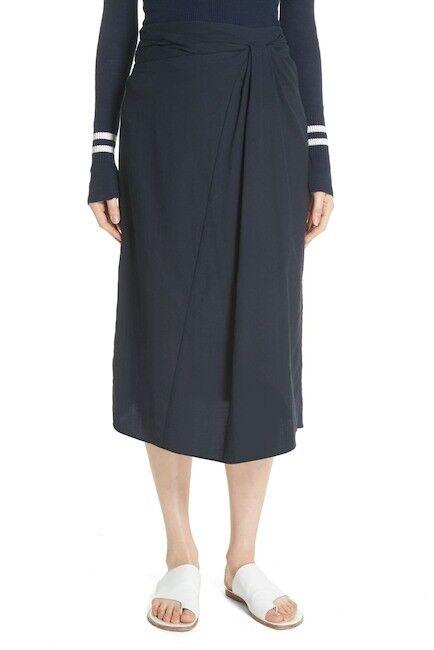 NWT Vince Twist Detail Cotton Skirt 10  295