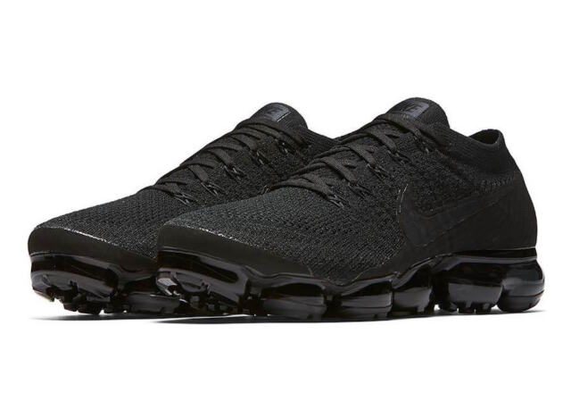 6a3b190ef61 Nike Air Vapormax Flyknit Triple Black Size 8-10.5 Anthracite White  849558-011