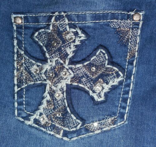 Cross Indigo ritagliate Tasche Ragged Center Off Jeans Bling Nwt Love 16w arrotolate 883562762612 wZA5qFxYw