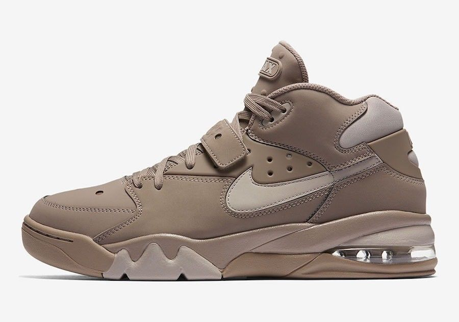 Nike Men's Size 9 Air Force Max 93 Basketball Shoes AH5534 200 Sepia Stone NEW