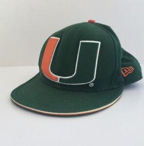 the best attitude 52366 6436f Image is loading NCAA-Miami-Hurricanes-Snapback-HAT-Unisex-Green