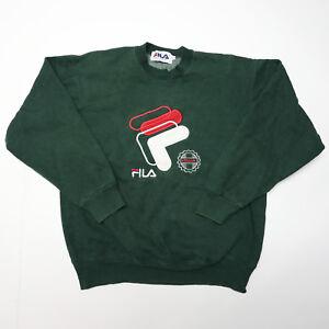 Details about Vtg FILA Italia Mens Large Green Crewneck Sweatshirt