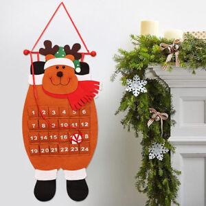 De navidad Adviento Calendario De Pared Colgante