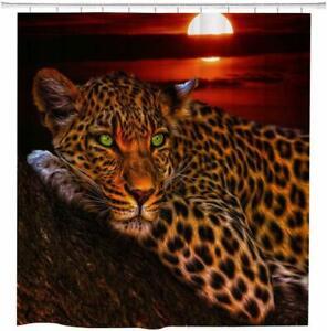 Shower Curtain Set Cheetah Print
