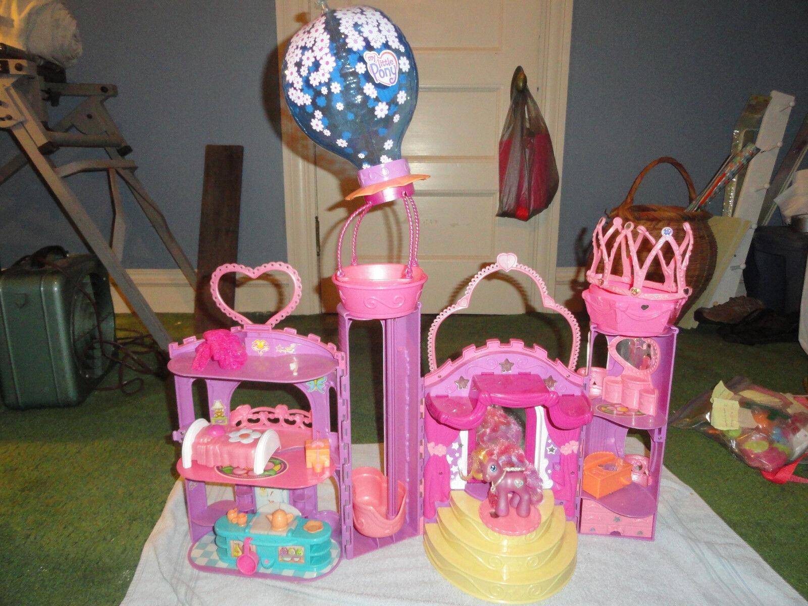 Pony Celebration Castle con My Little Sunsparkle 2003 Sonidos Y Luces En Funcionamiento