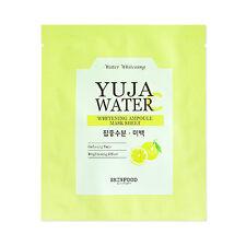 [SKINFOOD] Yuja Water C Whitening Ampoule Mask Sheet Samples - 2pcs