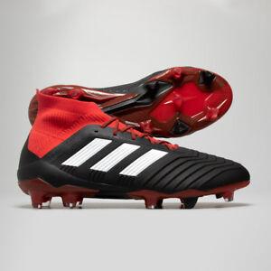 Adidas-Predator-18-1-FG-Black-Red-Football-Boots
