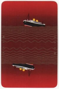 Playing-Cards-1-Single-Card-Old-NEW-ZEALAND-SHIPPING-Advertising-Art-NZSC-Ship-5
