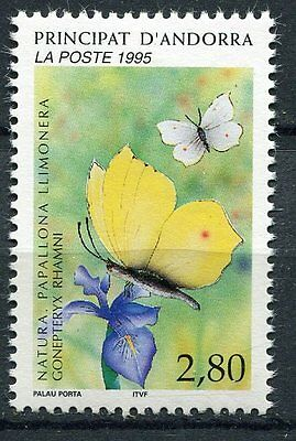 Spirited Timbre Andorre France Neuf N° 462 ** Papillons Gonepteryx Rhanni Andorra