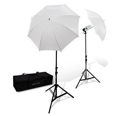 Lusana Studio Photo Continuous Lighting Umbrella Reflector Stand Kit Photography