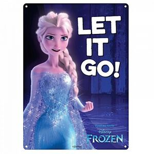 Details about Frozen Let It Go small metal sign 210mm x 150mm (hb)