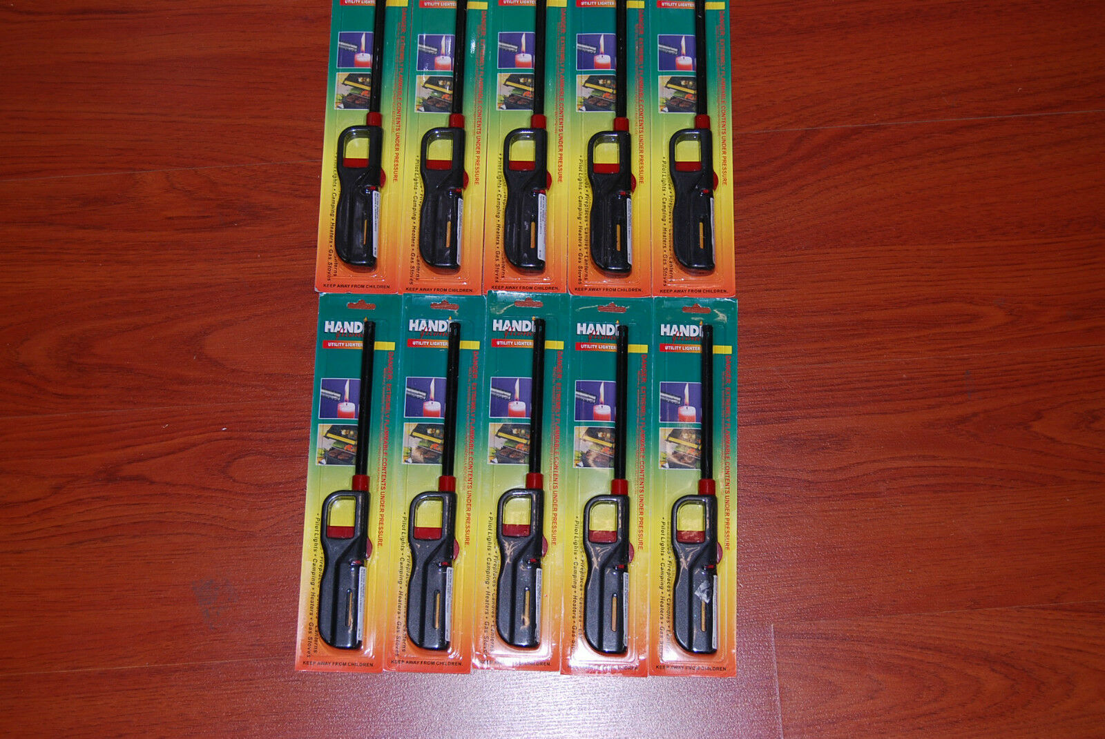 Lot 140 Gas Lighters 11  Butane BBQ Kitchen Stove Fireplace Grill Long Lighters