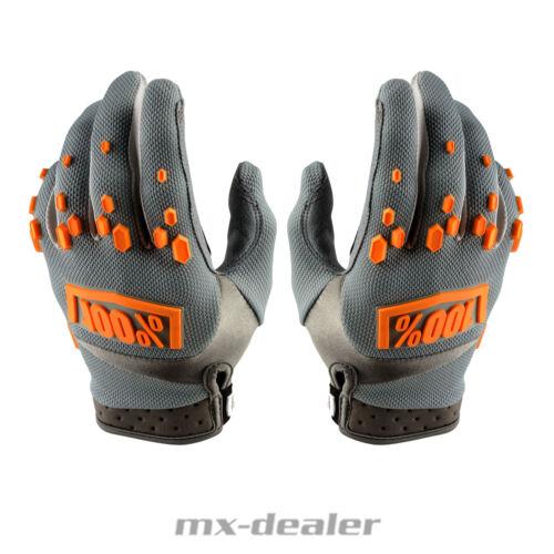 100/% Prozent Airmatic Handschuhe grau orange MTB DH MX Motocross Enduro Quad