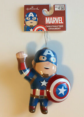 Shatterproof Captain America Hallmark 2018 Ornament Decoupage