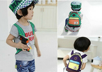 Baby Kids Boys Funny Backpack Trip Short sleeve Tops T-shirt 2~7Y