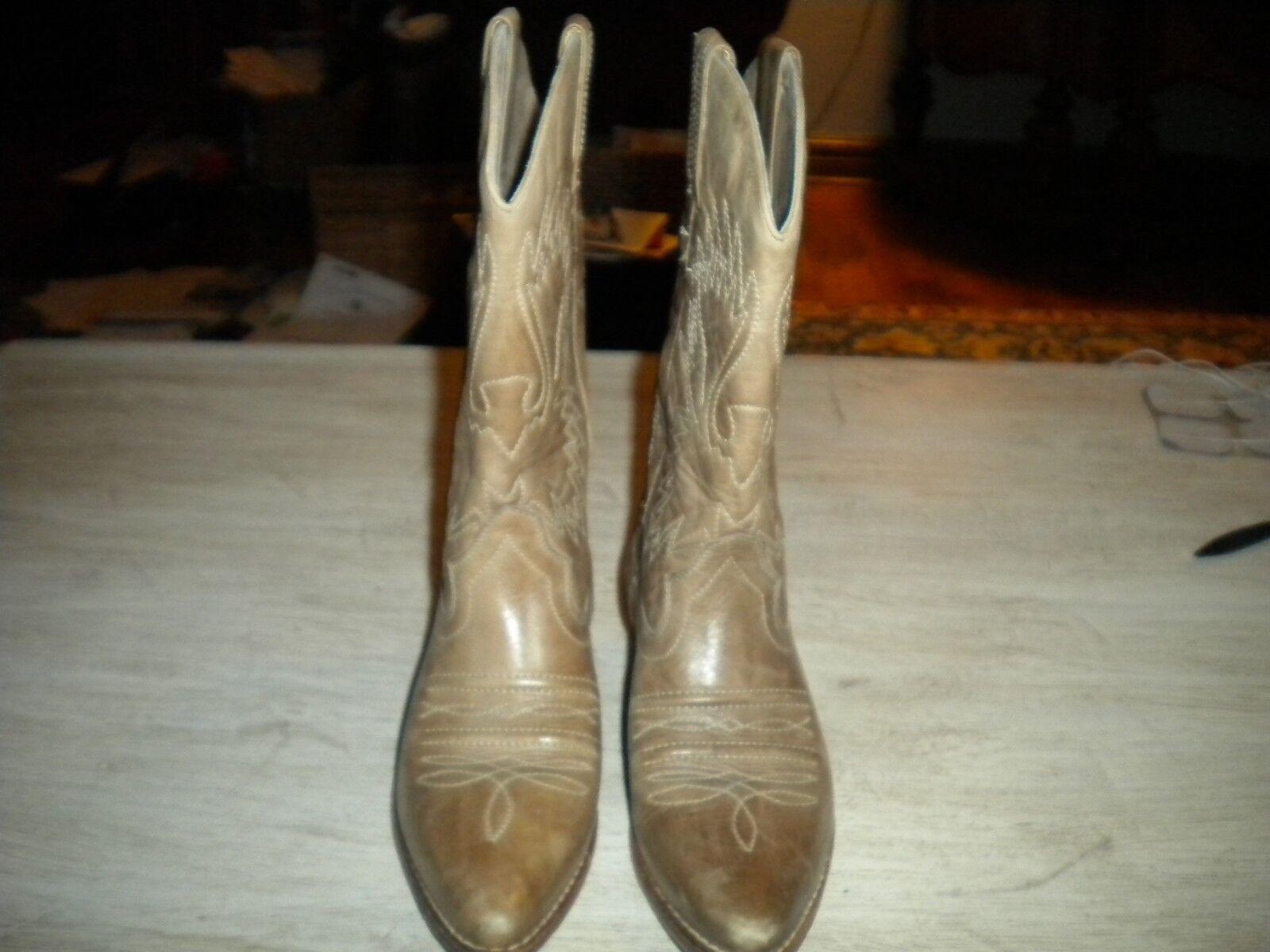 Señoras Old Gringo Beige botas De Vaquero 5.5-6 M (UE 36)
