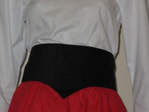 Nero Stile Vittoriano//Edwardiano Cintura