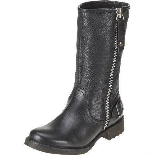 Grandes zapatos con descuento Mujer HARLEY-DAVIDSON Cuero Negro Media Caña Botas Estilo Motero Estilo baisley