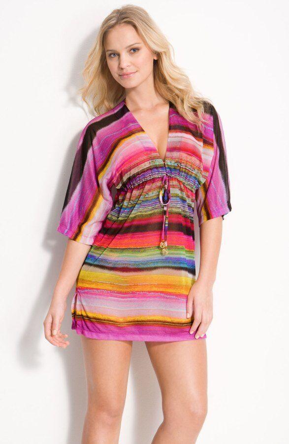 NWOT   154    LULI FAMA  MEDIUM  ISLA BONITA  COVER UP TUNIC DRESS   SEXY HOT