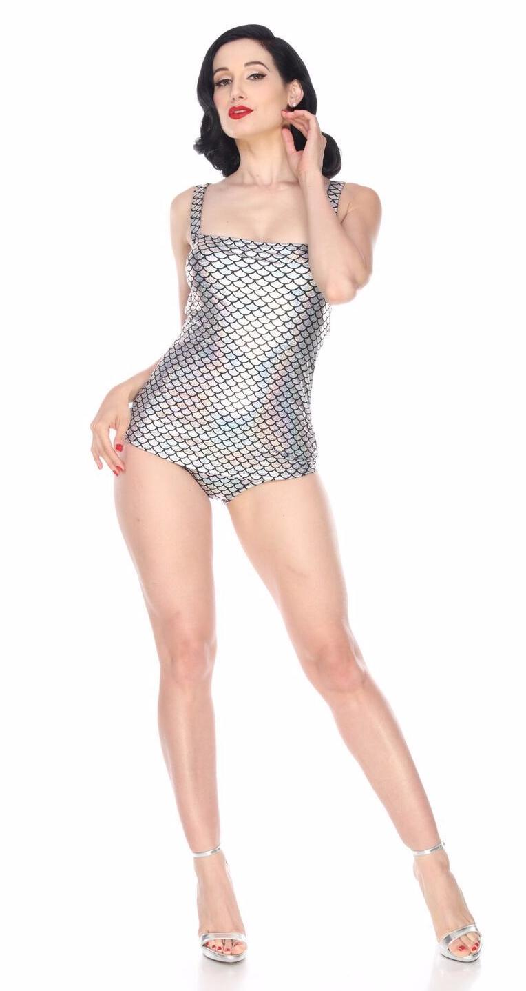 Esther Williams Million Dollar Sirena Costume Guaina Pinup 1 Pezzo Nuoto E02148