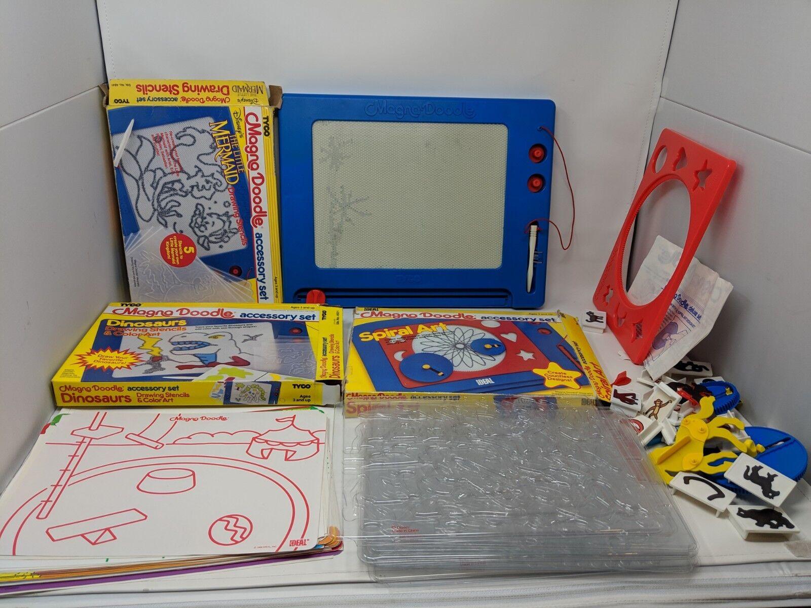 Nestlö.ideale, magna doodle magnetische zeichnung spielzeug 1986 w   magnete, schablonen, extras