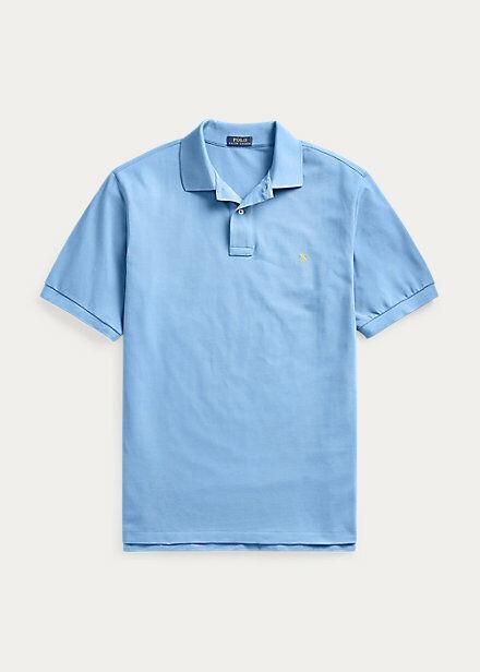 Polo Ralph Lauren Mens Classic Fit Mesh Polo Short Sleeve Blue Size Medium