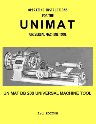 Unimat Universal Machine Tool DB 200 Manual and Accessories PDF Computer Format