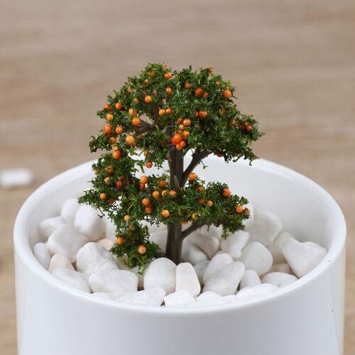 1 Stück Mini Garten Ornament Miniatur Harz Obstbaum Handwerk Fairy Garden D CL