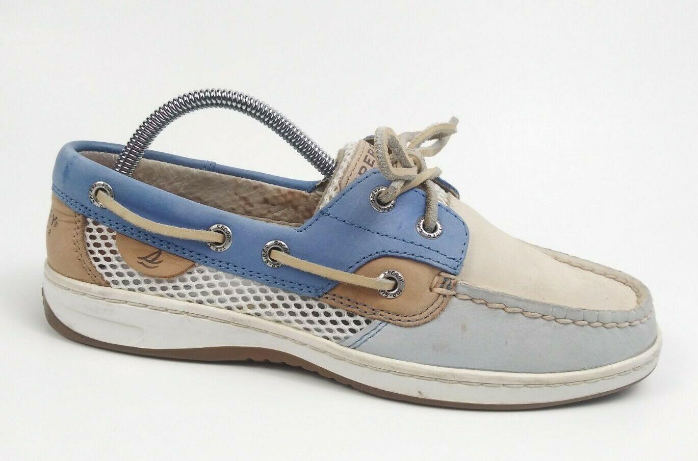 Sperry Top Sider Women's White Bluefish Size 6.5 M GUC