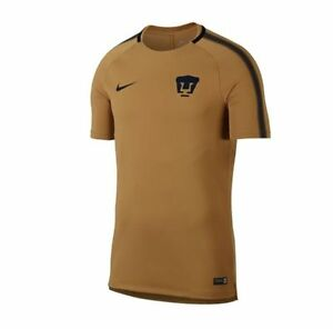 Nike Pumas UNAM Official 2017 - 2018 Soccer Training Jersey Gold ... 9443768ae030c