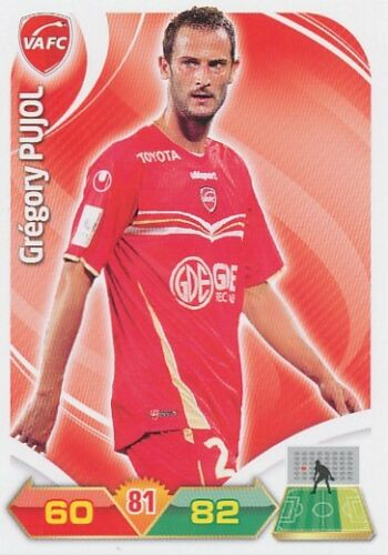 GREGORY PUJOL VALENCIENNES.FC TRADING CARDS ADRENALYN PANINI FOOT 2013