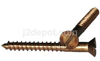 25pcs Silicon Bronze Wood Screw Slot Flat 14 x 3 1//2
