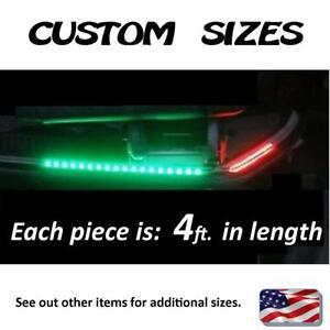 ___ CUSTOM  SIZES ___ 4ft. each Red & Green Boat Front Safety LED light kit