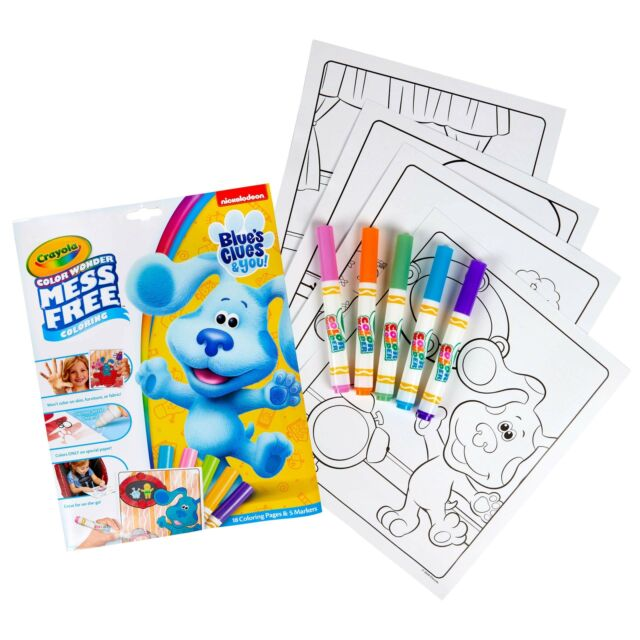 Crayola Color Wonder Blues Clues 18 Coloring Pages & 5 No Mess Markers For  Sale Online EBay