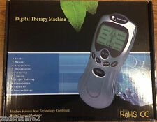 DIGITAL ELECTRONIC MASSAGE THERAPY ACUPUNCTURE MACHINE WITH 6 PADS - NEW