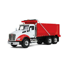 FIRST GEAR 1/50 RED AND WHITE KENWORTH T880 DUMP TRUCK