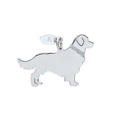 "Golden Retriever Dog Pendant Solid Silver 925 Stamp Pet Jewellery 14-30"" Chain Elegant En Stevig Pakket"