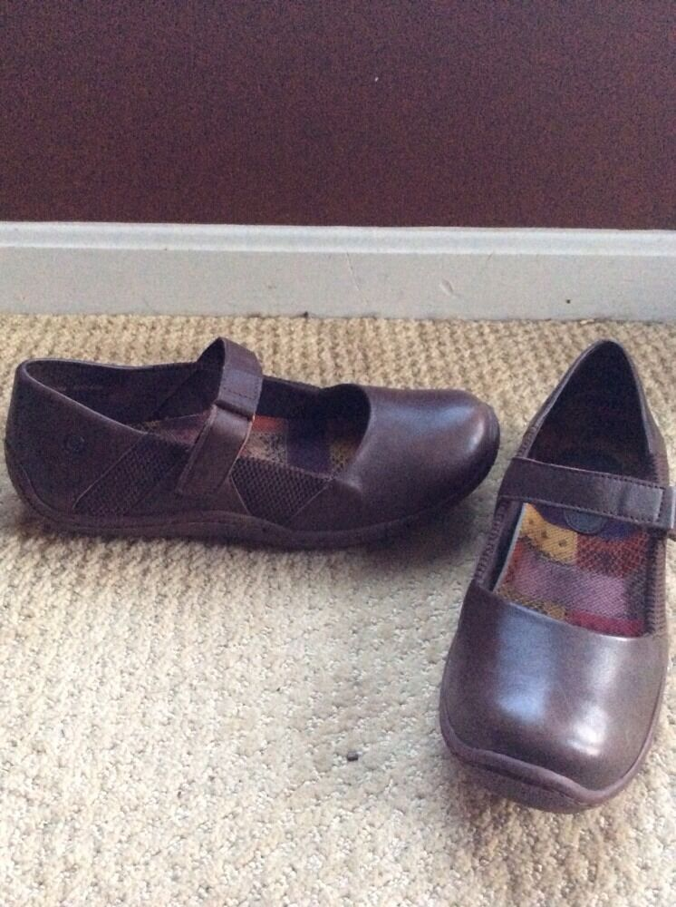 Born Handcrafted Mary Jane Genuine Leather Made In Mexico Sz 9 40.5 M W