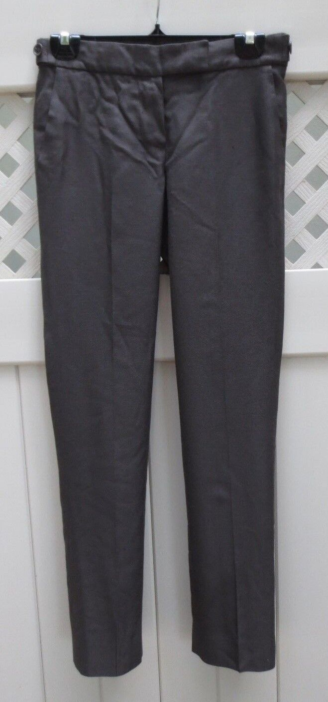 ELIE TAHARI braun Glen Plaid Hose Trousers Slacks US 0 2 MINT CONDITIO