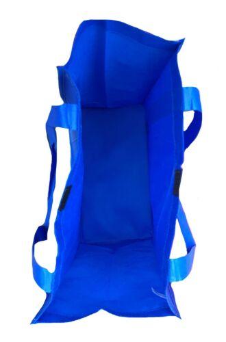 "3 Pack Reusable Grocery Shopping Tote Totes Bag Bags Hook /& Loop Closure 14x16/"""