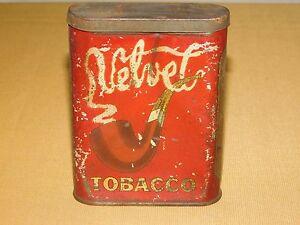 VINTAGE VELVET SMOKING TOBACCO TIN ****EMPTY*