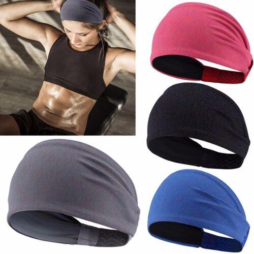 Men Women Sweat Headband Sweatband Yoga Gym Running Stretch Sports Head NEW