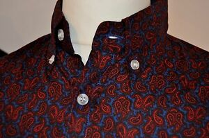 Mod-1960s-style-paisley-shirt-red-and-blue-by-Pop-Boutique-BNWT