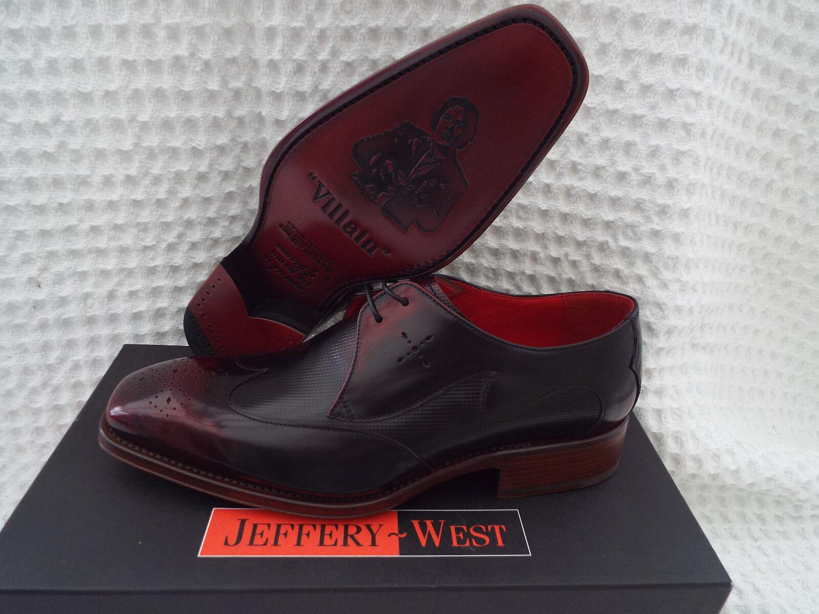 JEFFERY WEST WEST JEFFERY Carter Burgundy Schuhes  dded48